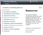 Lightroom 2 – Deutsche Hilfe und PDF online bei ADOBE